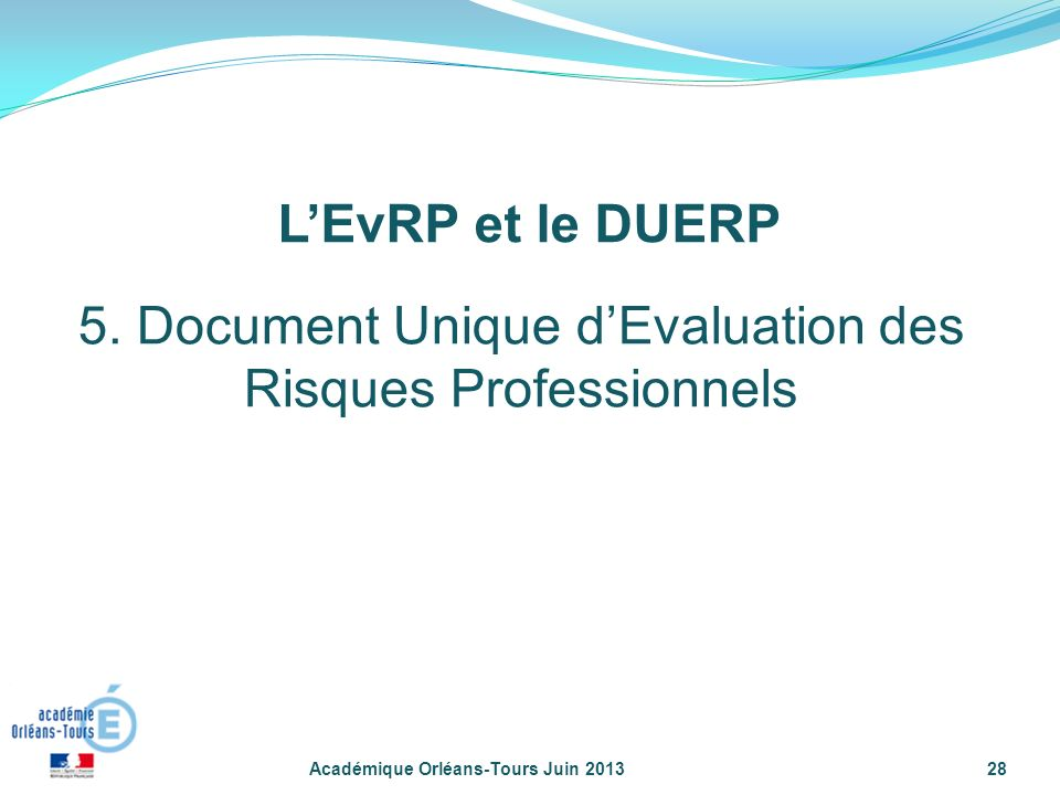 5. Document Unique d'Evaluation des Risques Professionnels