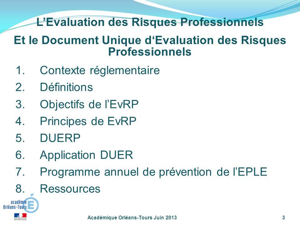 L'Evaluation des Risques Professionnels