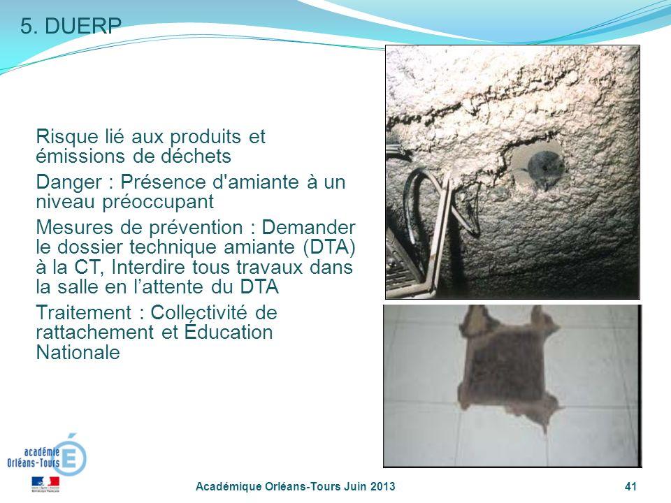 5. DUERP Risque lié aux produits et émissions de déchets