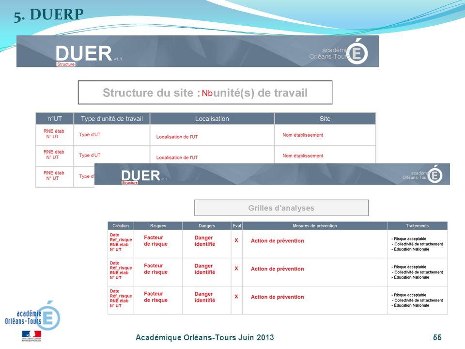 5. DUERP Académique Orléans-Tours Juin 2013