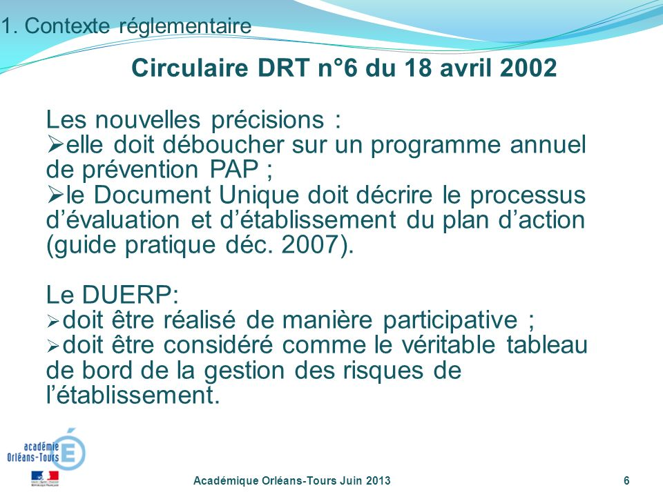 Circulaire DRT n°6 du 18 avril 2002