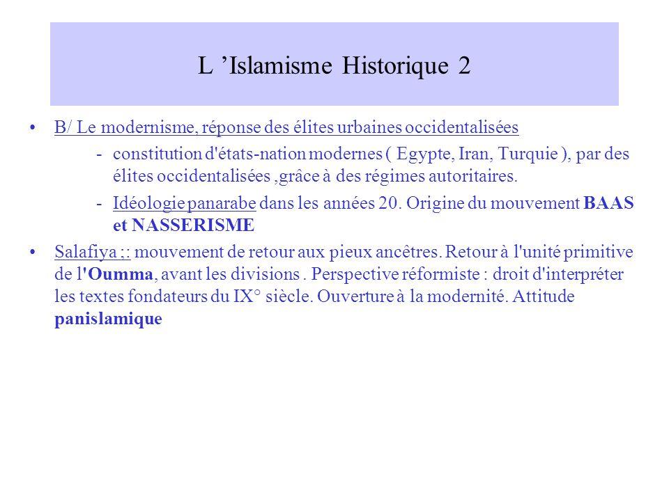 L 'Islamisme Historique 2