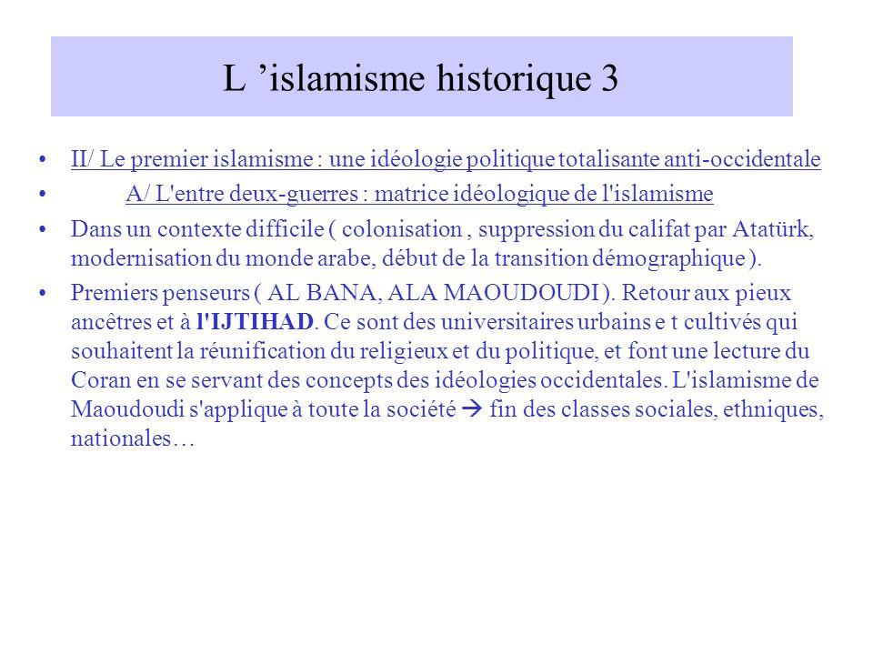 L 'islamisme historique 3