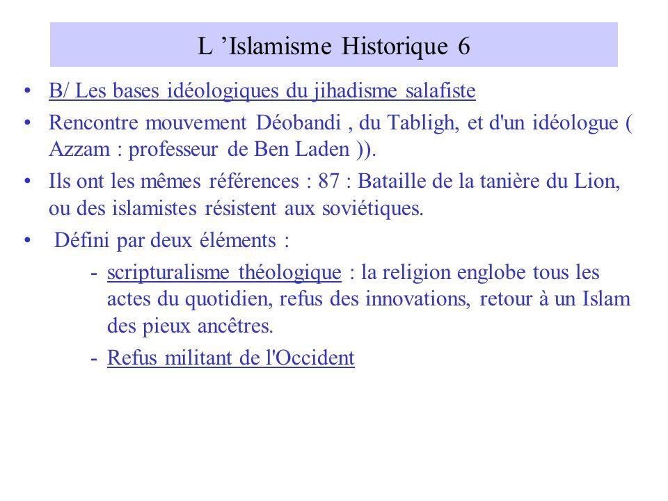 L 'Islamisme Historique 6