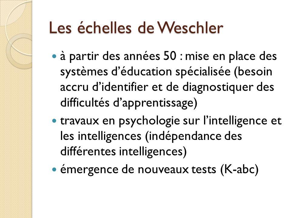 Les échelles de Weschler