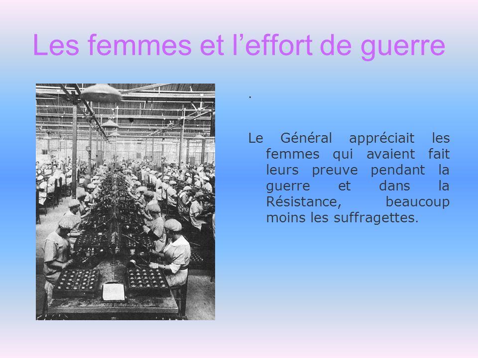 Les femmes et l'effort de guerre