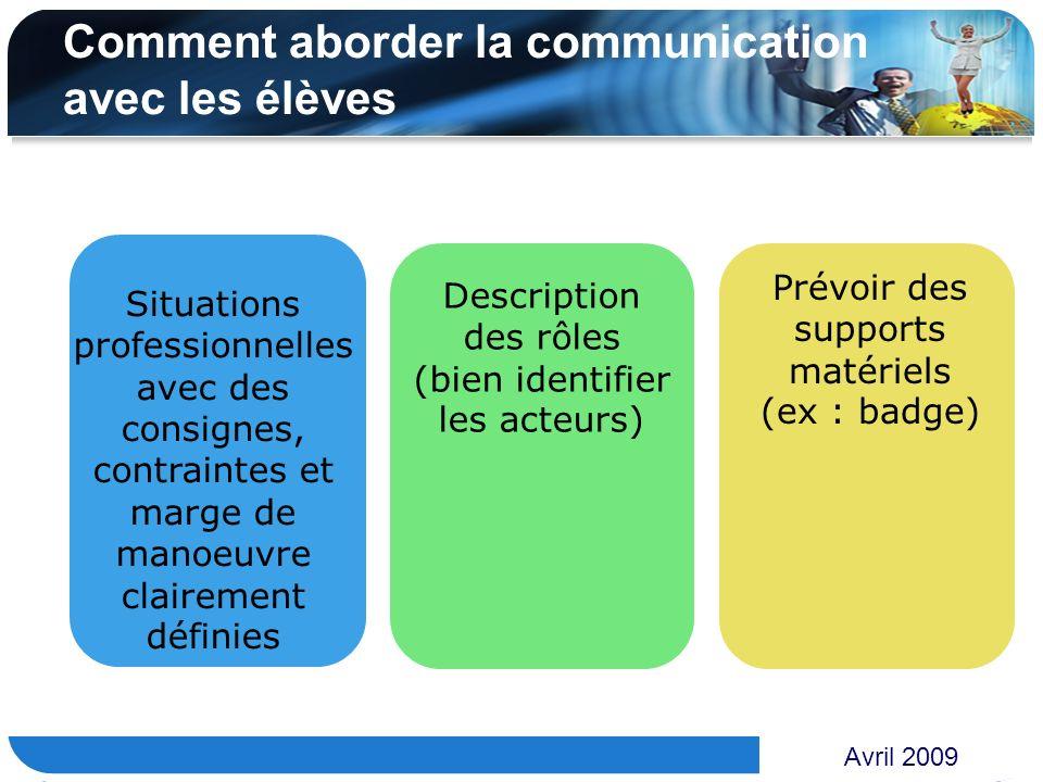 Comment aborder la communication avec les élèves