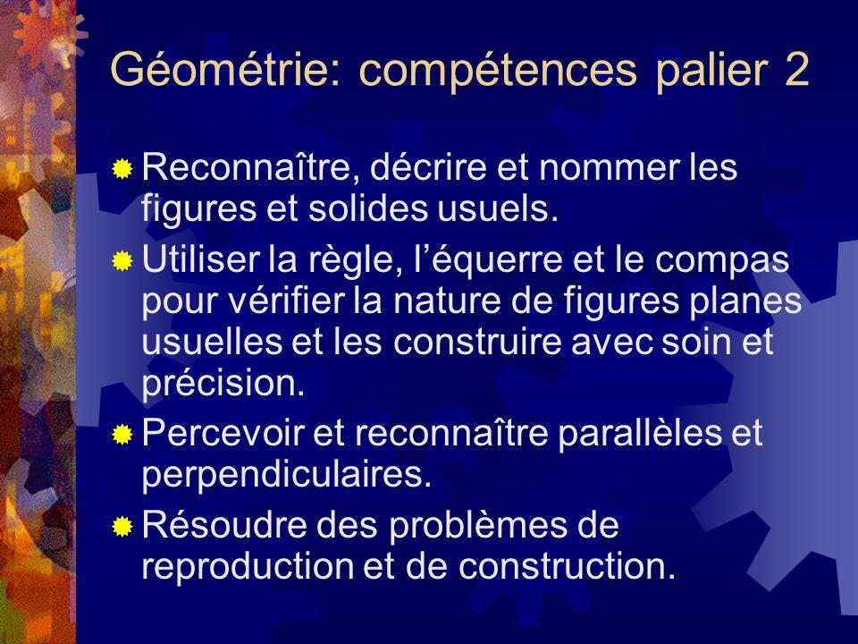 Géométrie: compétences palier 2
