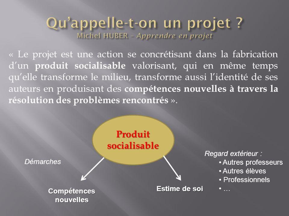 Qu'appelle-t-on un projet Michel HUBER – Apprendre en projet