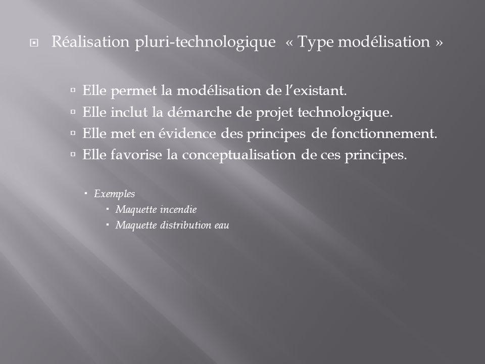Réalisation pluri-technologique « Type modélisation »