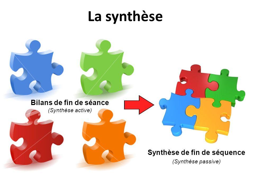 Synthèse de fin de séquence