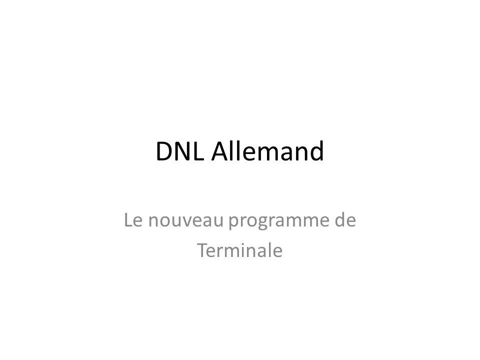 Le nouveau programme de Terminale