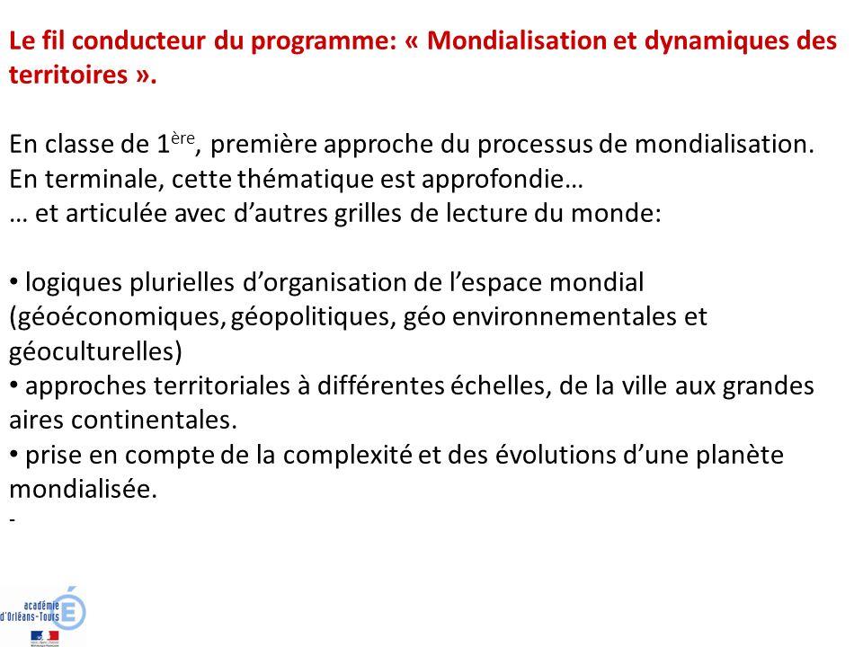 En classe de 1ère, première approche du processus de mondialisation.
