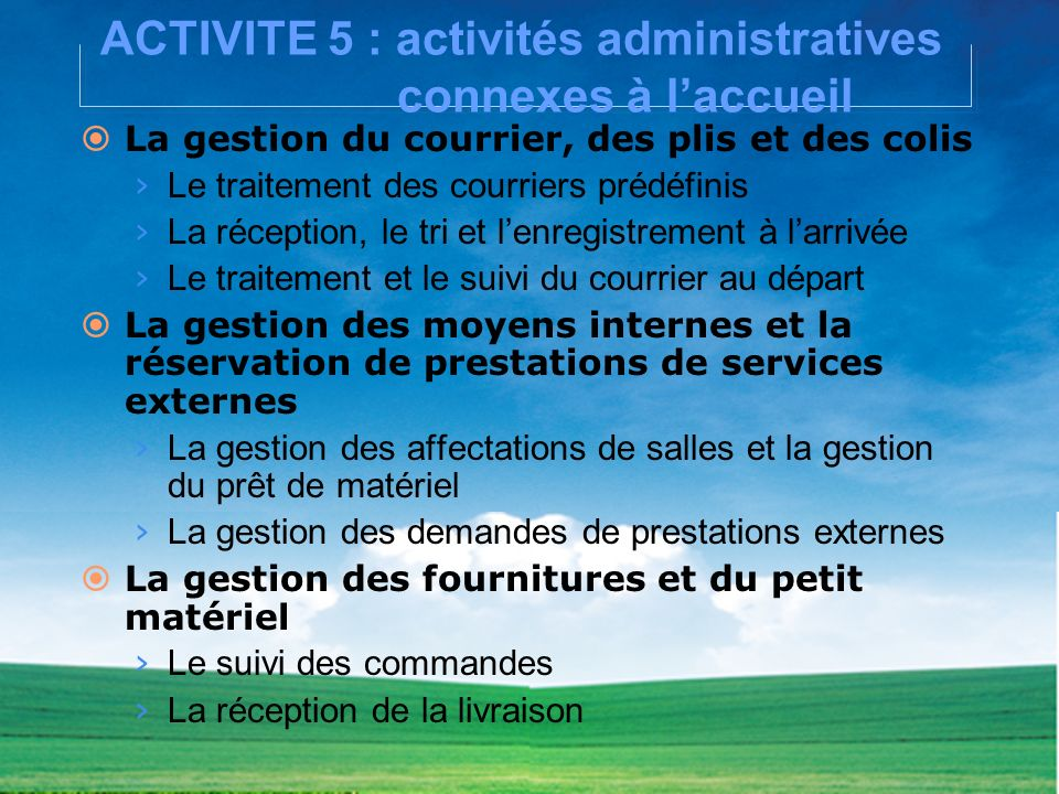 Baccalaureat professionnel ppt video online t l charger for Suivi de courrier temporaire