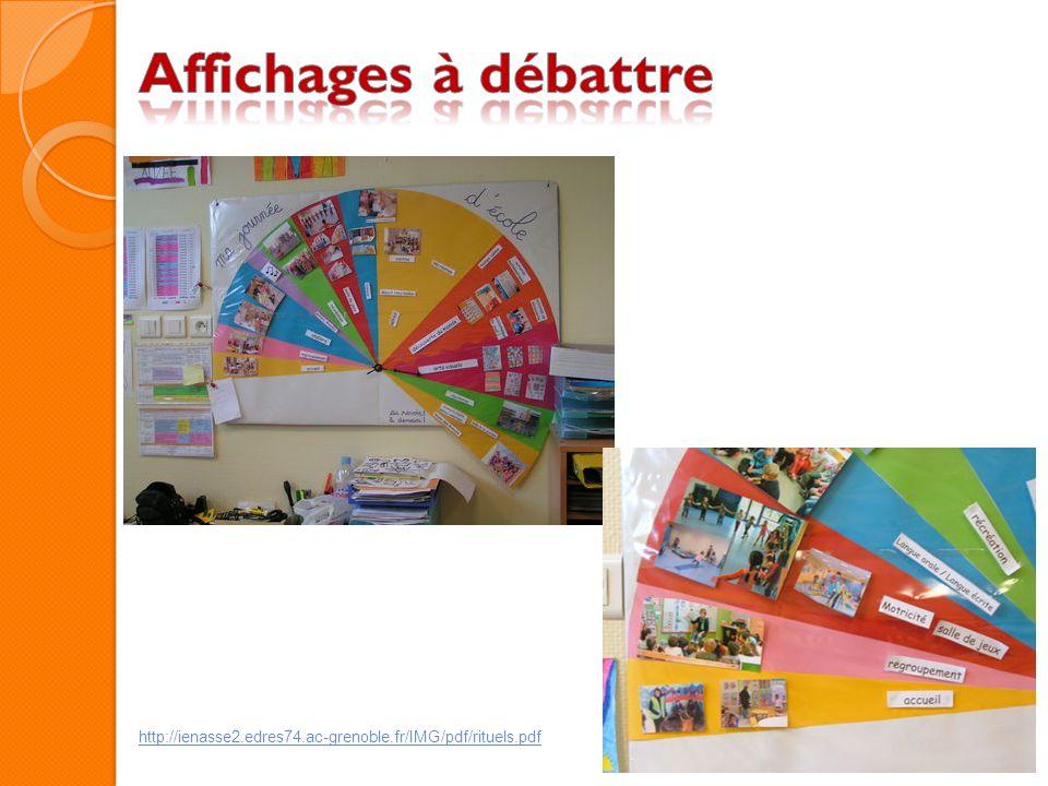 Affichages à débattre http://ienasse2.edres74.ac-grenoble.fr/IMG/pdf/rituels.pdf