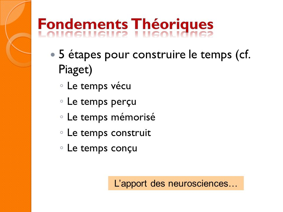 L'apport des neurosciences…
