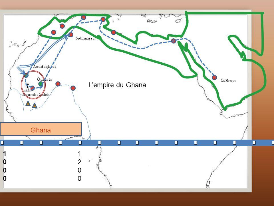 L'empire du Ghana Ghana 1000 1200 Aoudaghost Oualata Koumbi-Saleh