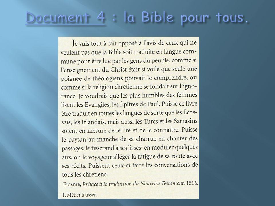 Document 4 : la Bible pour tous.