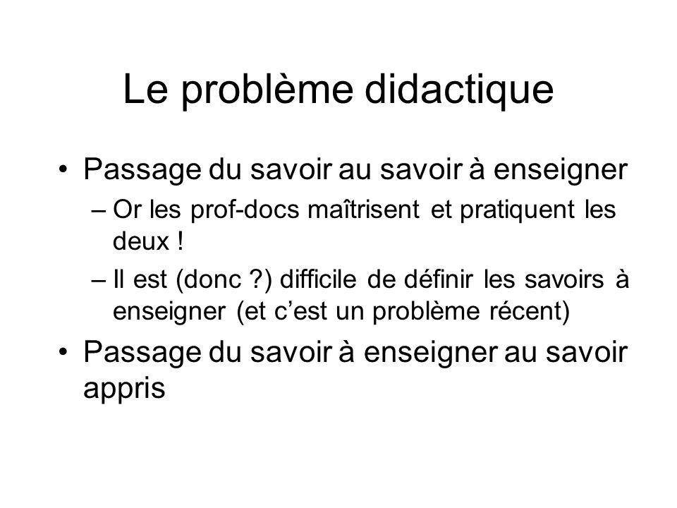 Le problème didactique