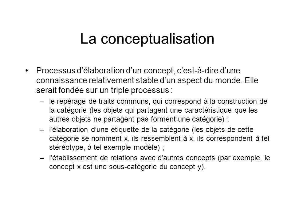 La conceptualisation