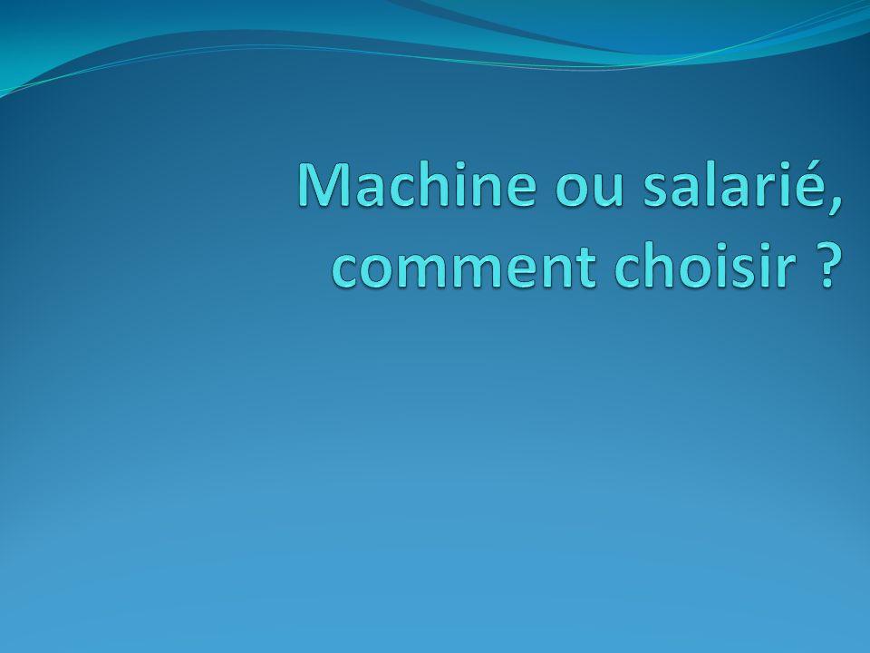 Machine ou salarié, comment choisir