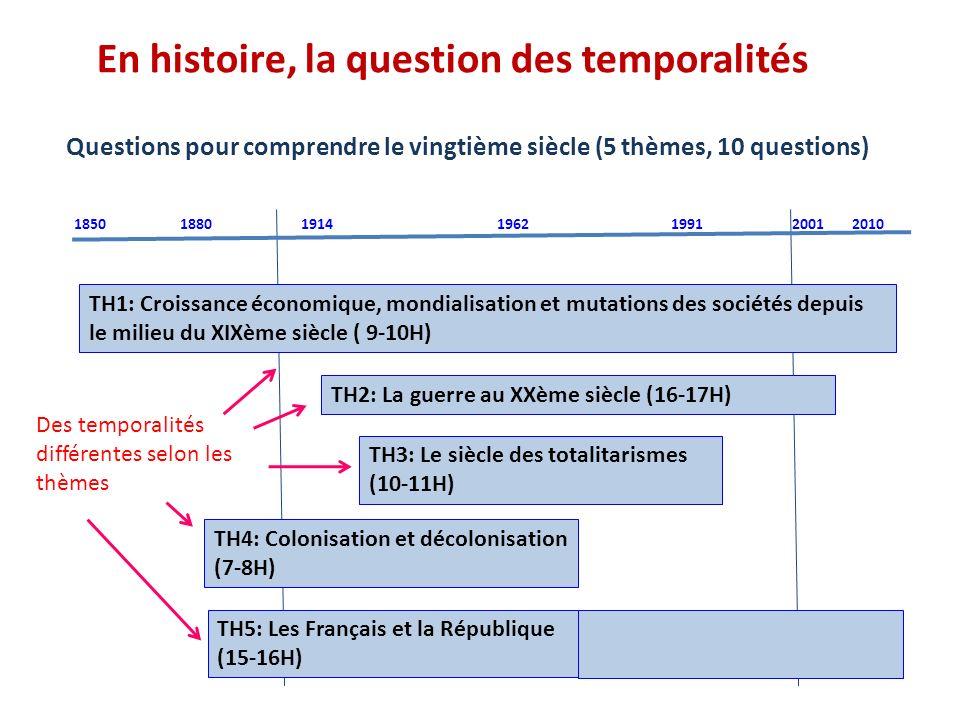 En histoire, la question des temporalités