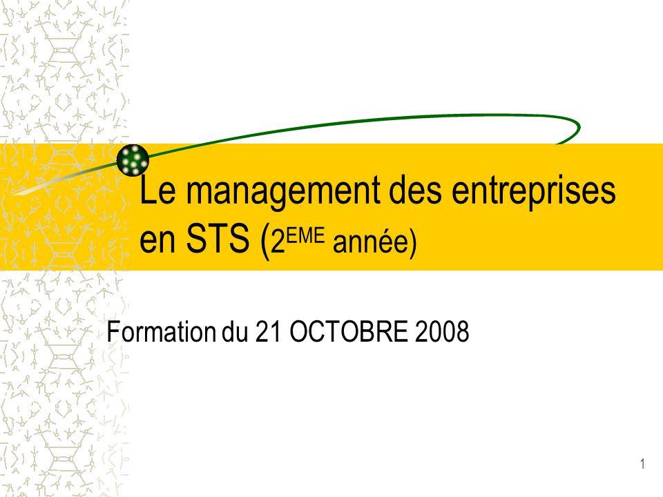 Le management des entreprises en STS (2EME année)