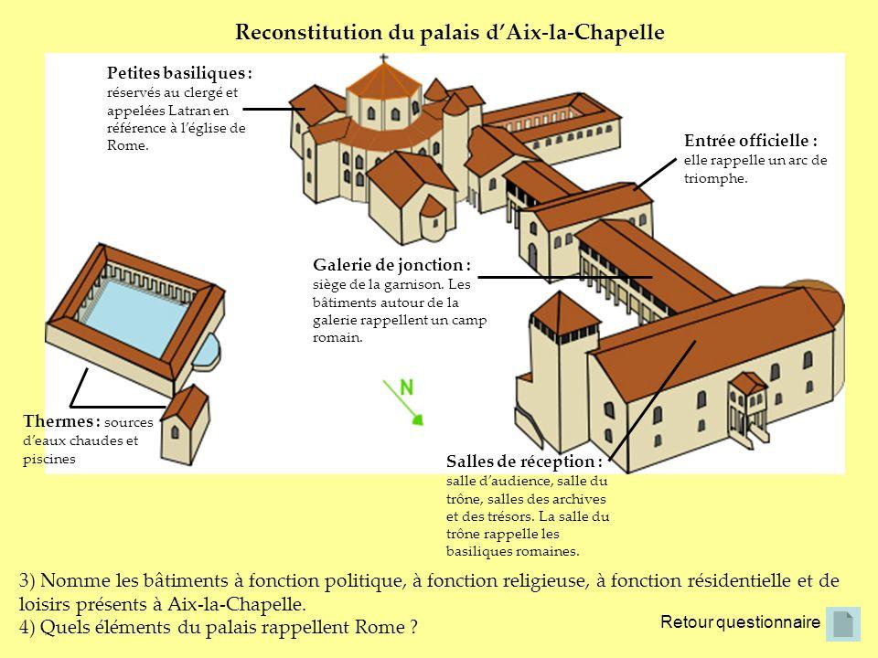 Reconstitution du palais d'Aix-la-Chapelle