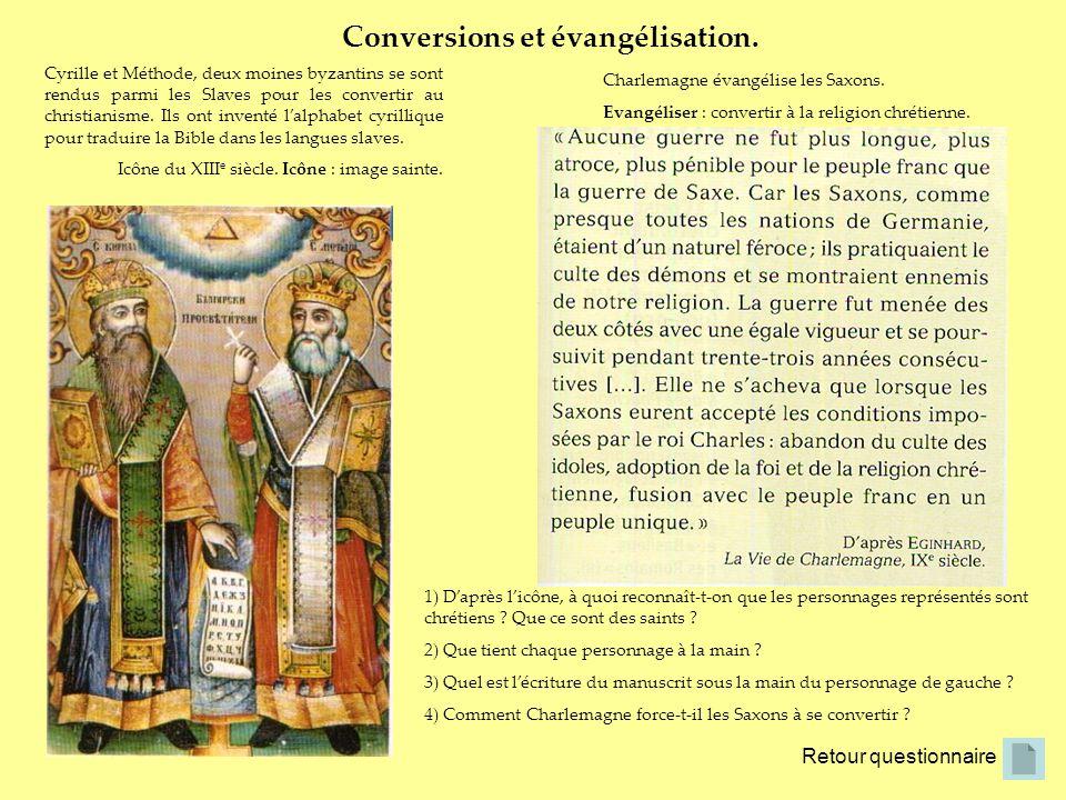 Conversions et évangélisation.