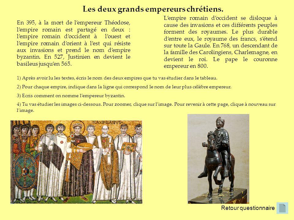 Les deux grands empereurs chrétiens.