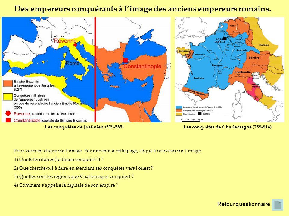 Des empereurs conquérants à l'image des anciens empereurs romains.