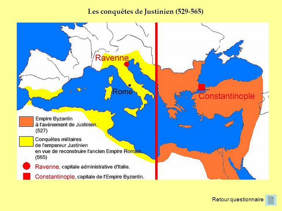 Les conquêtes de Justinien (529-565)