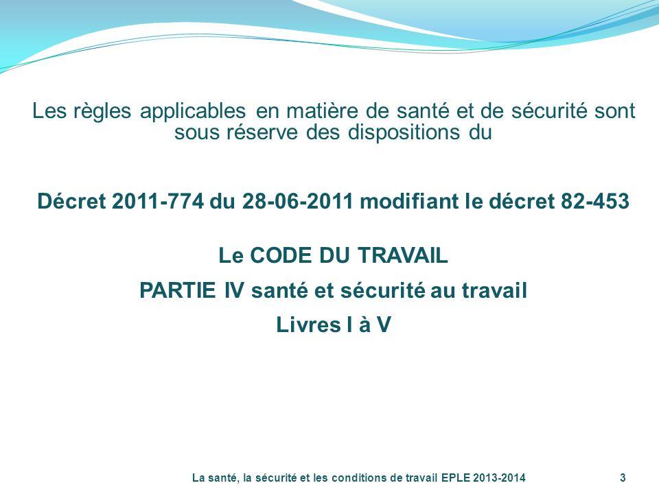 Décret 2011-774 du 28-06-2011 modifiant le décret 82-453