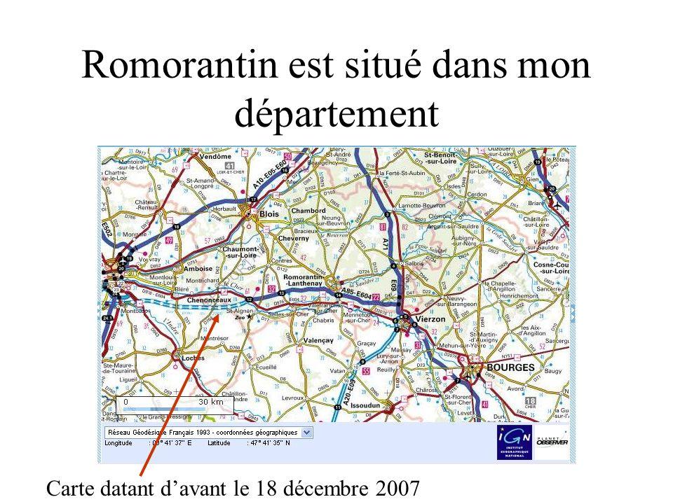 Romorantin est situé dans mon département