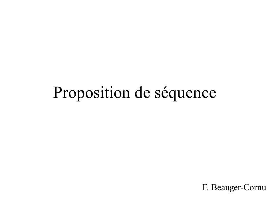 Proposition de séquence