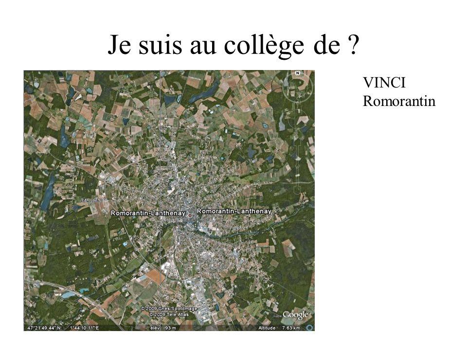 Je suis au collège de VINCI Romorantin
