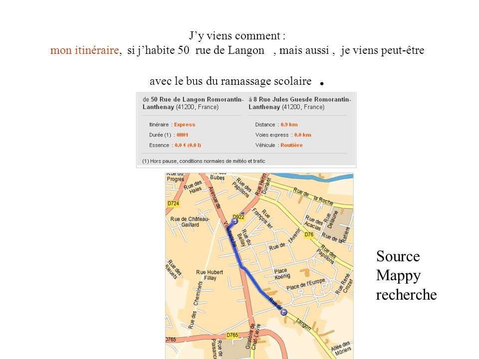 Source Mappy recherche