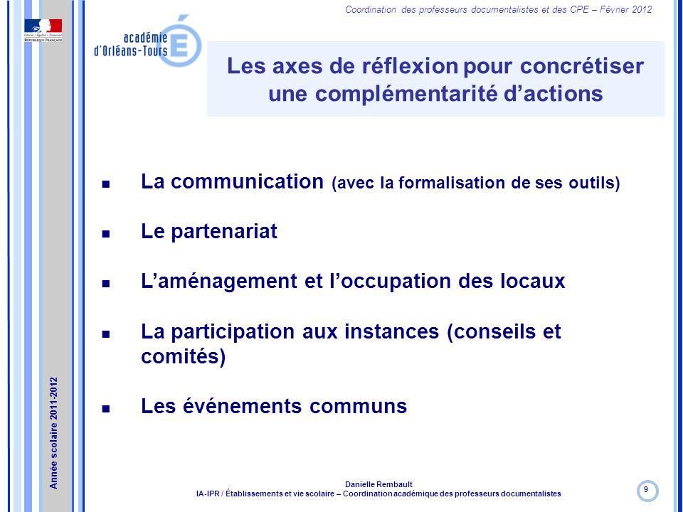 Les axes de réflexion pour concrétiser une complémentarité d'actions
