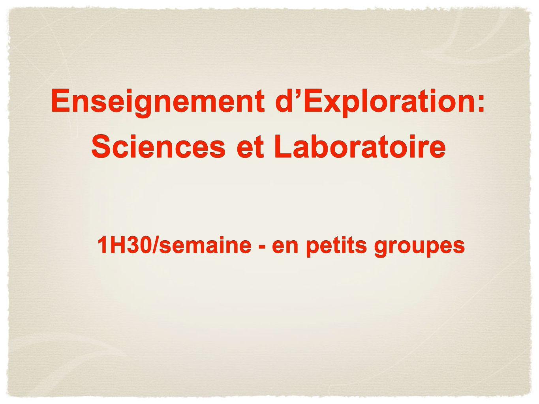 Enseignement d'Exploration: Sciences et Laboratoire