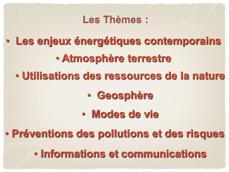 Les enjeux énergétiques contemporains