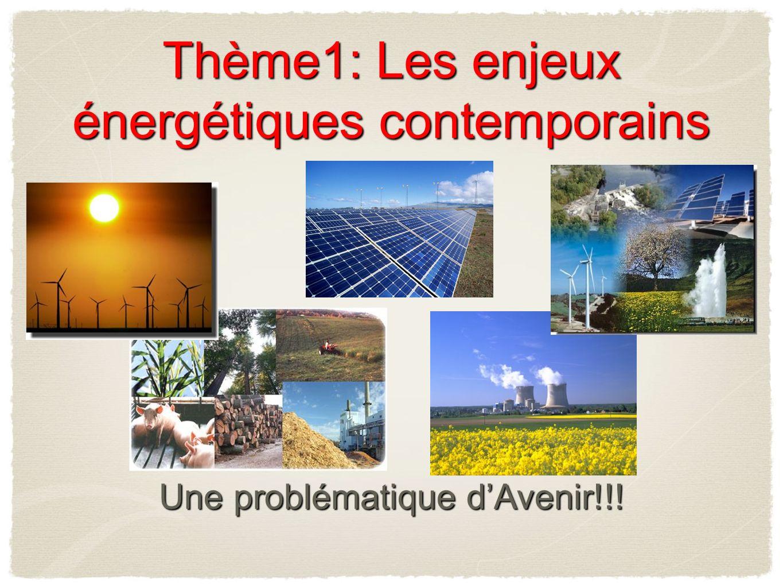 Thème1: Les enjeux énergétiques contemporains