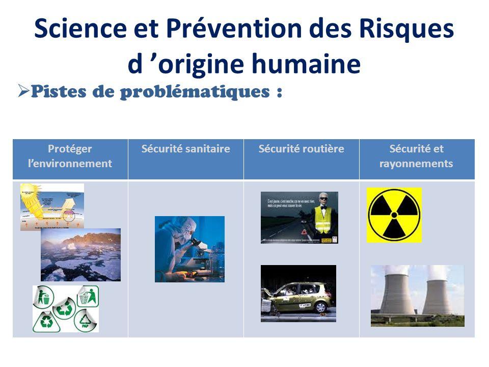 Science et Prévention des Risques d 'origine humaine