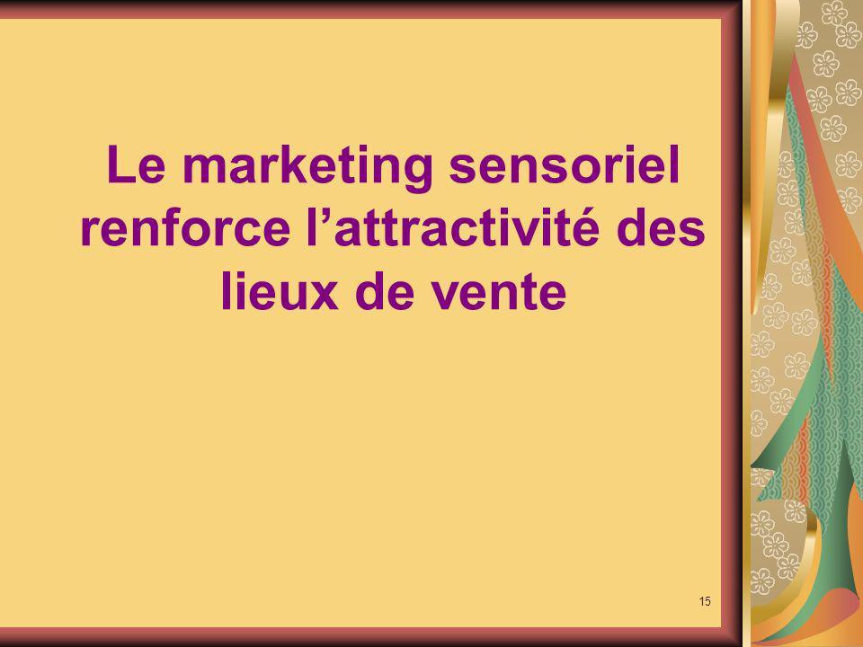 Le marketing sensoriel renforce l'attractivité des lieux de vente