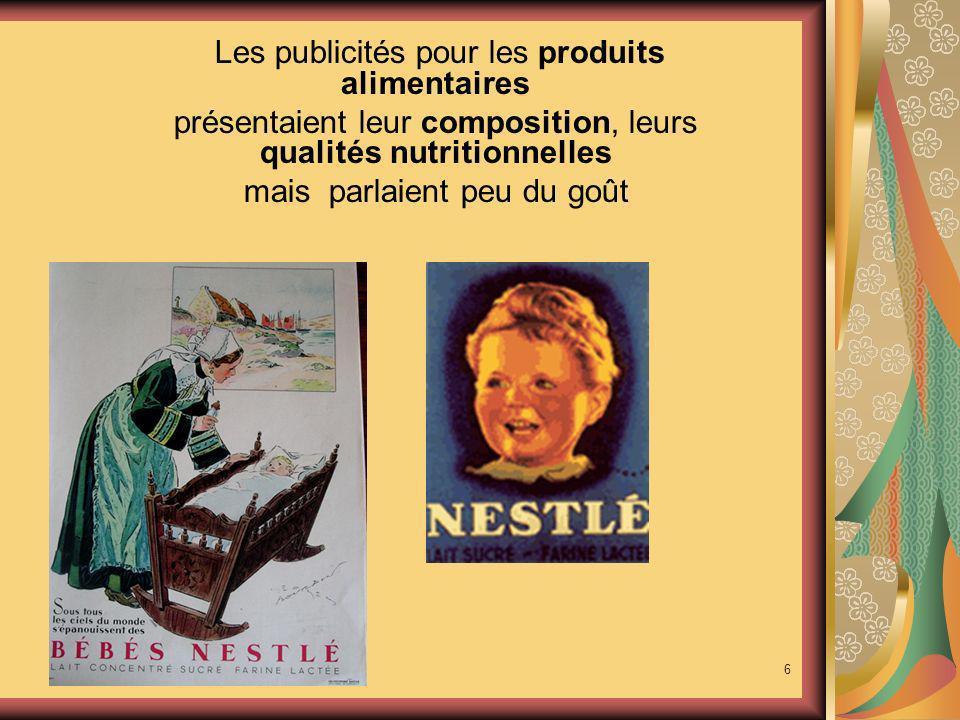 Les publicités pour les produits alimentaires