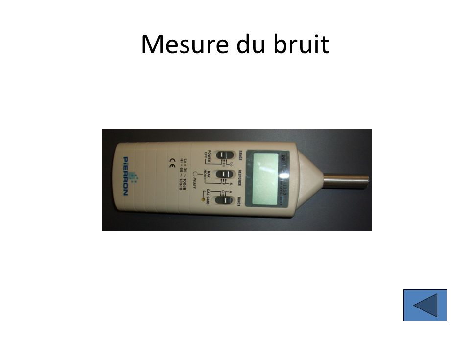 Mesure du bruit