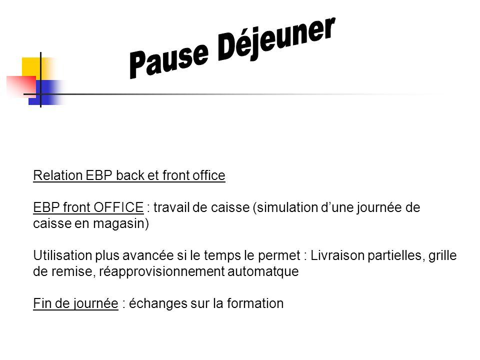 Pause Déjeuner Relation EBP back et front office