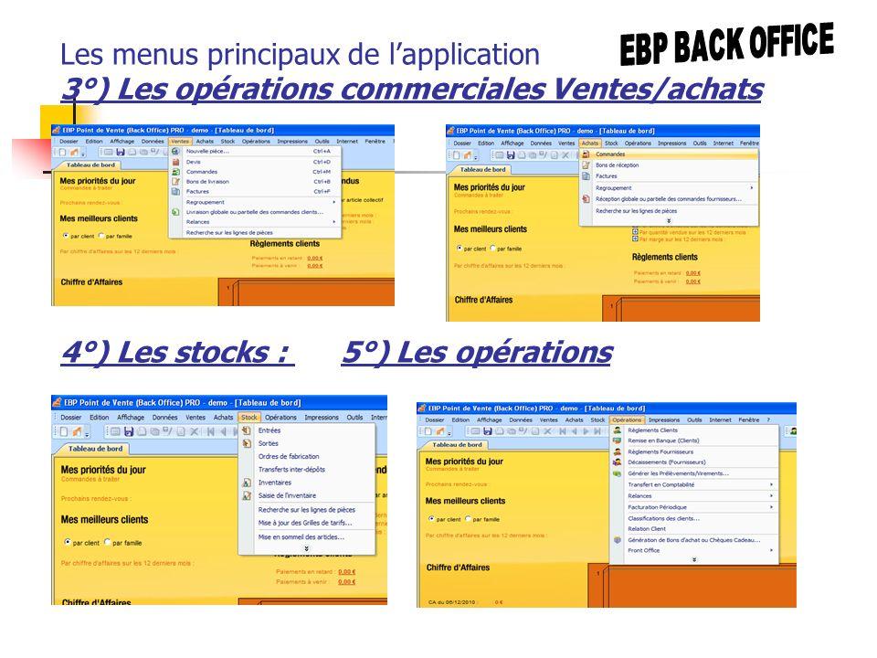 4°) Les stocks : 5°) Les opérations