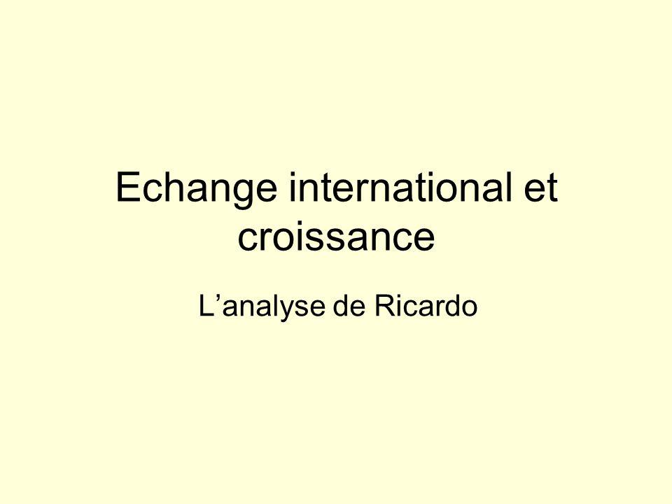 Echange international et croissance