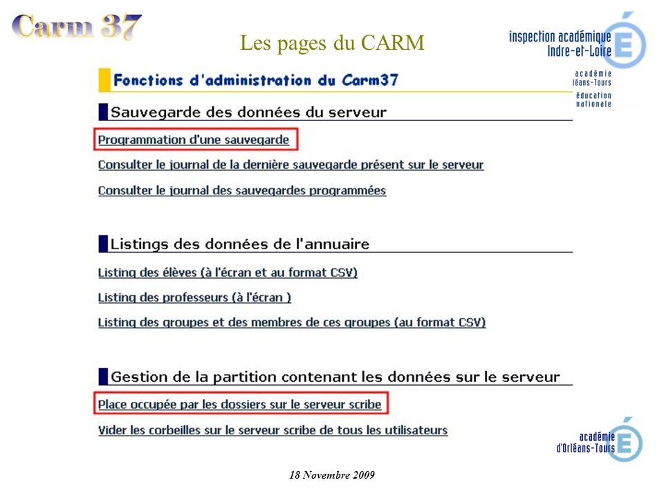 Les pages du CARM 18 Novembre 2009