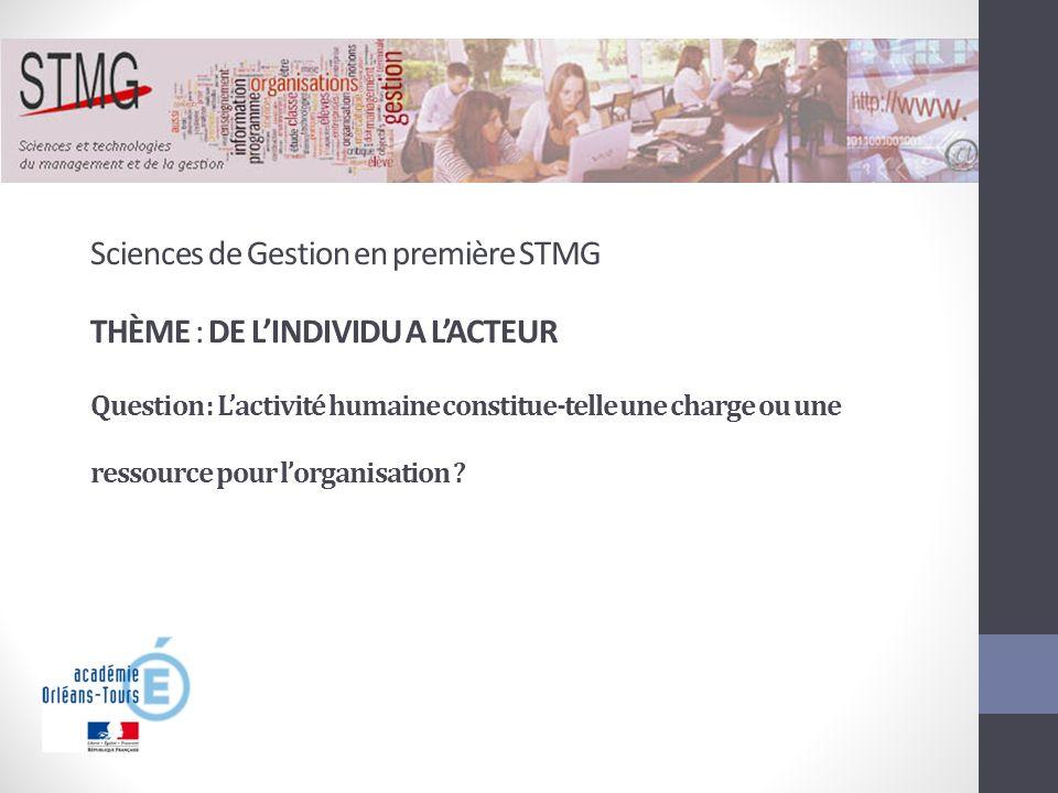 Sciences de Gestion en première STMG
